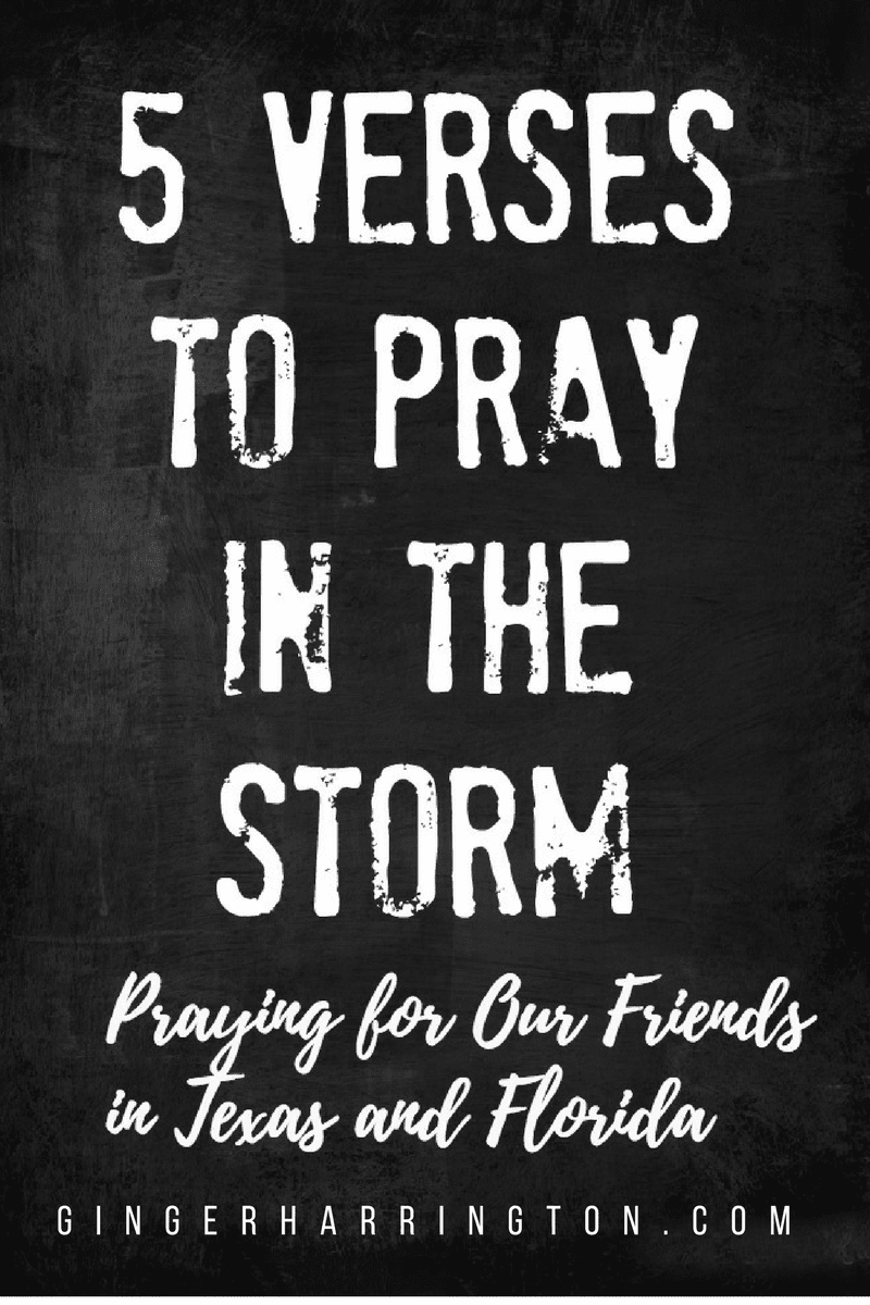 5 Verses to Pray in the Storm: Praying for our friends in Texas and Florida