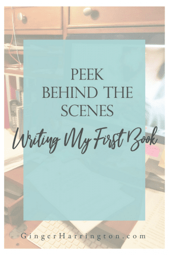 Peek Behind the Scenes of writing my first book. Lessons learned and a bit about the process.