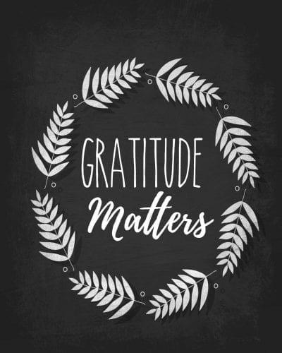 Gratitude matters.