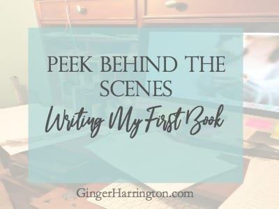 Peek Behind the Scenes: Writing My First Book