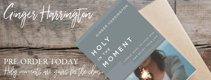 Holy in the Moment, a book to encourage your heart and set your soul free to love God, embrace truth, and enjoy life...one moment at a time.