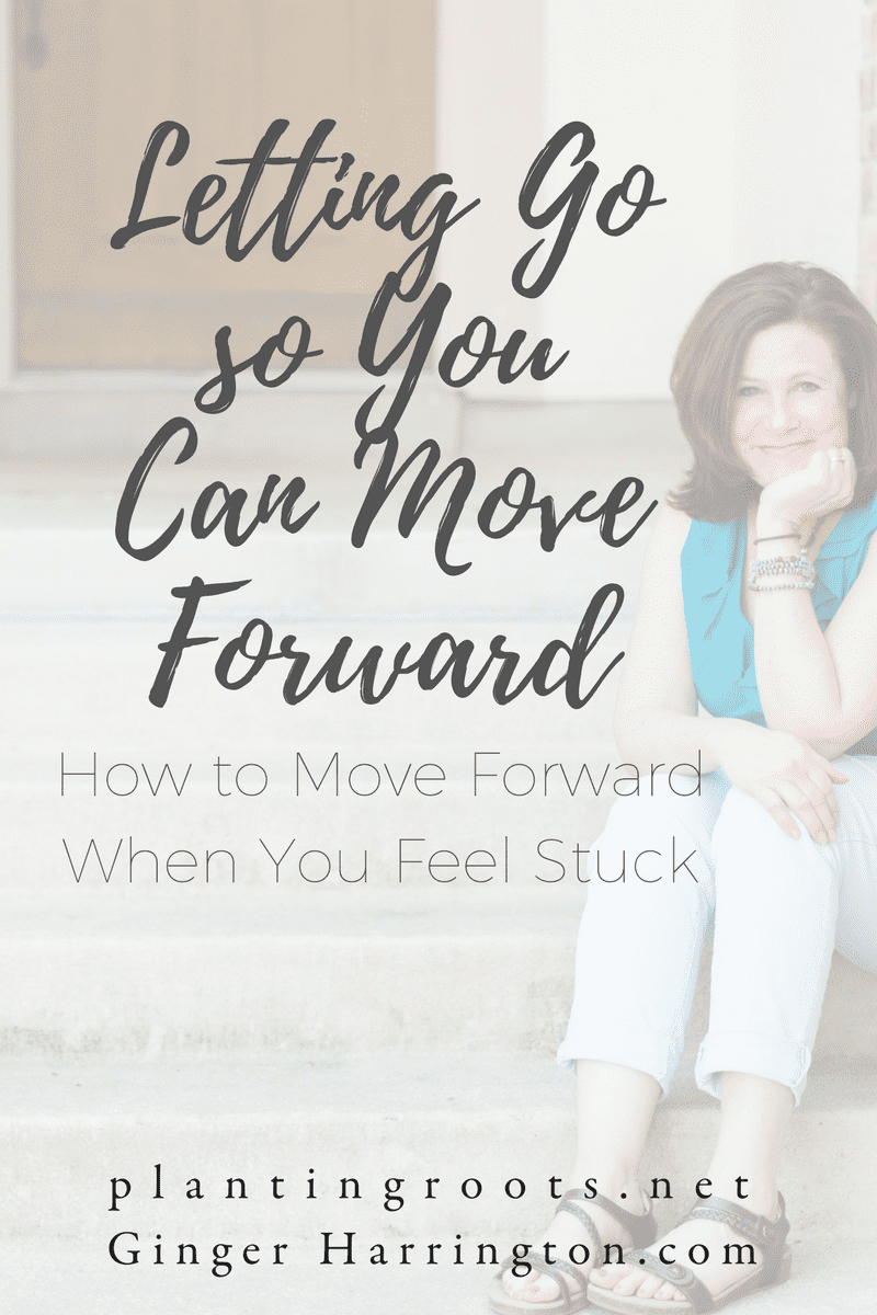 Ever feel stuck in past challenges? Letting go is the first step to moving forward. God can do mighty things when we stop holding on the the things that hold us back.