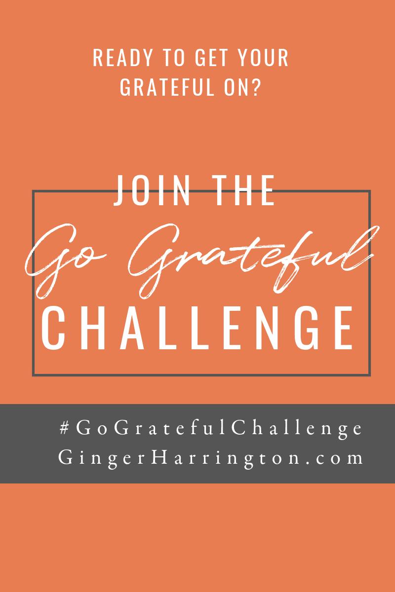 Join the #GoGratitudeChallenge. Build the gratitude habit in this fun challenge for November.