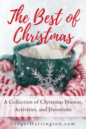 Best of Christmas is a collection of holiday humor, Festive activities, and Christmas devotions from award-winning author, Ginger Harrington. Make a memory book, do a fun grab bag with the family, and reflect on the wonder of Christmas with sacred devotions and a worship challenge. You'll find the best of Ginger's Christmas content all in one place!