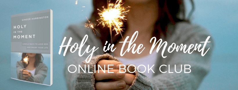 Join the Holy in the Moment online book club. Join author Ginger Harrington for special resources, book discussions.