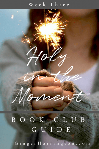 Week three of the Holy in the Moment online Book Club is here! Join Ginger Harrington for  discussion questions, quotes, and graphics from chapters 7-9 of the book.