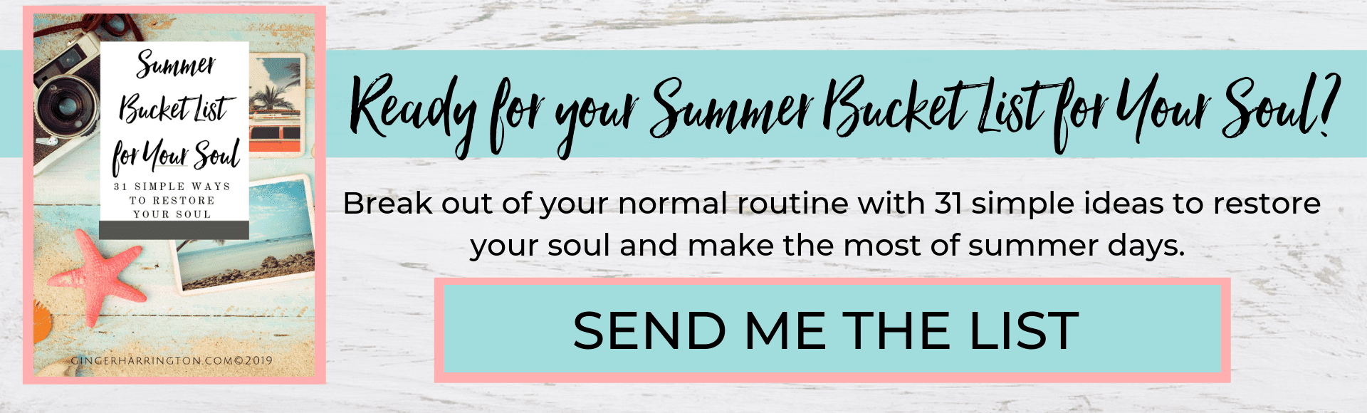 Get a summer bucket list for your soul, with 31 soul-restoring activities to make the most of this summer.
