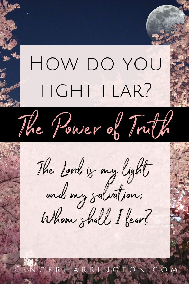 Meditating on the Psalms is one of the ways I counter anxious thoughts. A regular time in God's word  empowers us to overcome worry, anxiety, or fear. Fight fear with the power of God's Truth.