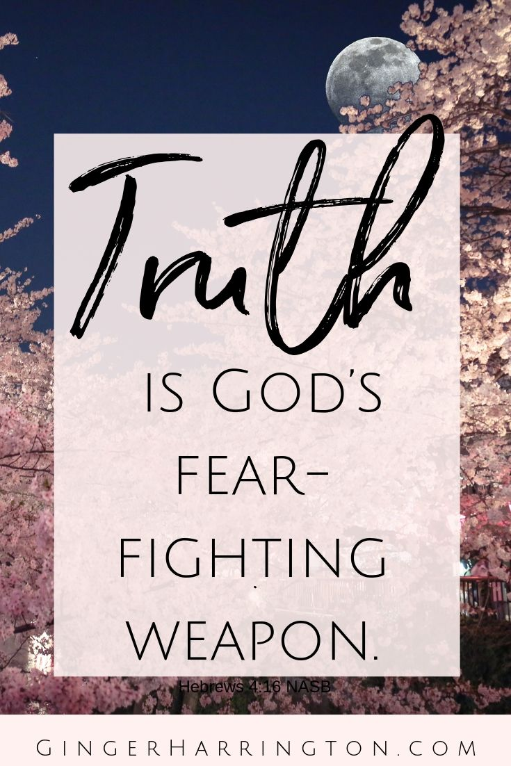 Fight fear, worry, and anxiety with the power of God's truth. God's word is our most effective weapon in battling fear.