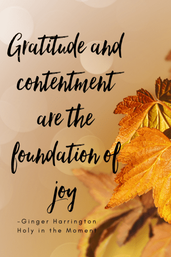 Gratitude, contentment, and joy are some of life's sweetest blessings. Where we find one, we often experience the others as well. What fills you with joy today?
