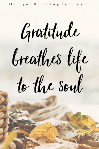 The grateful soul is one that has learned to give thanks as naturally as breathing.
