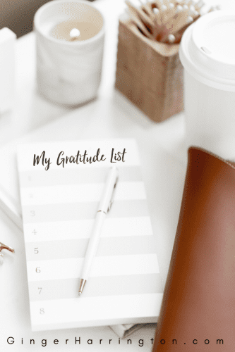 Gratitude matters: 10 truths and tips for a grateful life. Build the holy habit of writing down your blessings in a gratitude list.