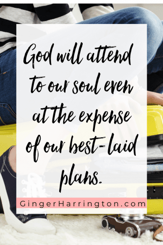 Discovering God's best when things don't turn out like you plan reveals unexpected blessings even in discouragement. My plan was doing; God's plan was about being. . .
