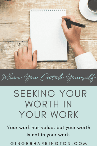 Seeking our self worth in our work is a soul temptation. Perfectionism and insecurity create pressure our souls were never meant to carry: the weight of our own performance.