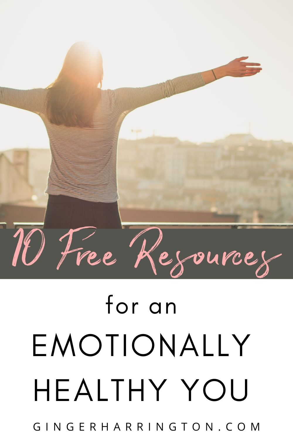 Enjoy 10 free resources from Ginger Harrington to understand and process your emotions in this post. It's hard to grow spiritually beyond where you are emotionally. Are you ready to work on an emotionally healthy you?  #emotionalhealth #emotionalwellness #healthyliving #holyandwhole #healthyemotions #emotions