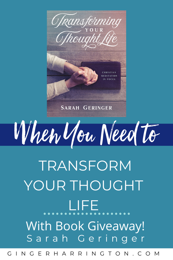 Every problem we have begins in our thoughts. What you think in your inward life inevitably spills out onto your outward life.  Overcome negative thinking and experience victory in your thought life struggles by meditating on the truths in Scripture. A Q & A with Sarah Geringer, author of Transforming Your Thought Life: Christian Meditation in Focus.  #overcomingnegativeself-talk #overcomenegativethoughtpatterns #howtochangetoxicthoughts #negativethinking #negativethoughts #liveyourbestlife #thinkingnegative #mentalhealthawareness #anxiety #anger #fear #positivethinking #mentalhealthmatters #transformingyourthoughtlife
