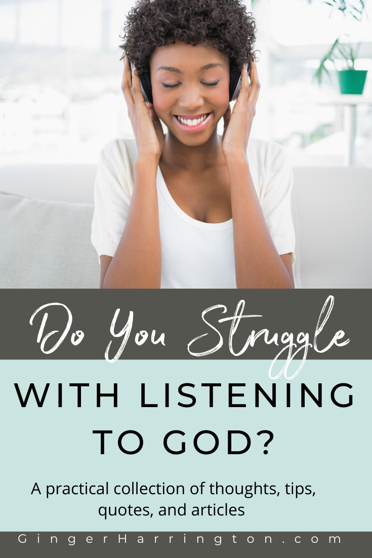 Overcome the challenge of listening to God with a practical collection of thoughts, tips, quotes, and articles from Ginger Harrington. Learning to hear God unleashes spiritual growth and strengthens our soul. . #meditatingongodsword #howtomeditateongodsword #quiettimewithgod #relationshipwithgod #listeningtogod #hearinggod #christianauthor #christianspeaker