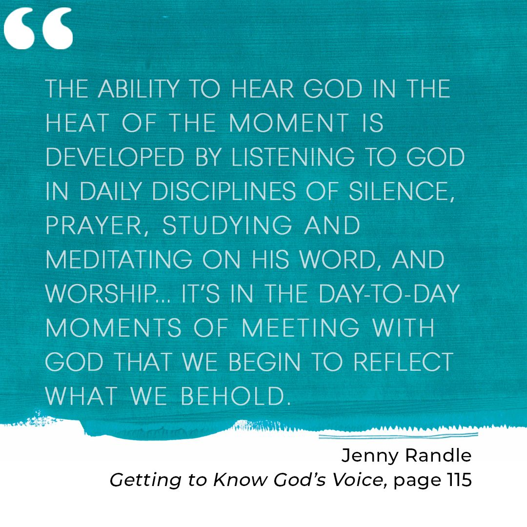 Get to know God's voice with helpful truths and encouragement from Ginger Harrington and Jenny Randle. Author interview, book review, and book giveaway will equip you to hear God more clearly. Biblical truth, inspiration, and practical tips for Christian women to ignite spiritual growth by listening to God. #gettingtoknowgodsvoice #listeningtogod