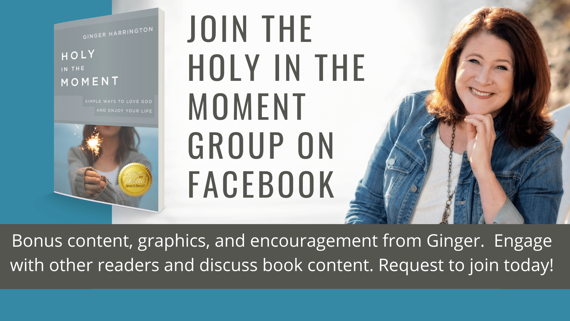 Join the Holy in the Moment Community on Facebook to practice simple ways and holy habits for a deeper relationship with God, others, and yourself.