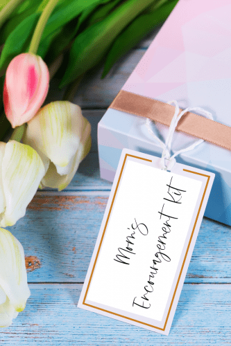 Make a meaningful Mother's Day craft to encourage the moms in your life. An Encouragement Kit with Bible Verses and personal notes will a gift that will keep giving. Free printable list of Scripture verses to encourage mom.