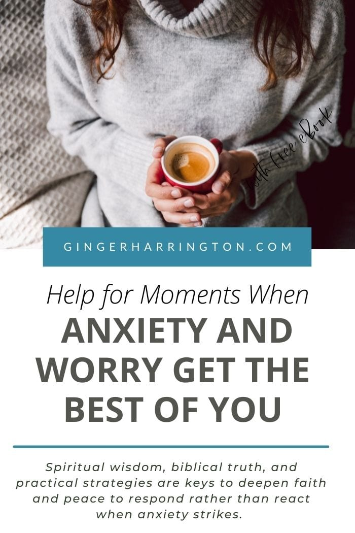 Anxiety and worry can feel overwhelming. We all need encouragement and help when powerful emotions, fearful thoughts, and difficult circumstances get the best of us. Spiritual wisdom, biblical truth, and practical strategies are keys to deepen faith and peace to respond rather than react when anxiety strikes.